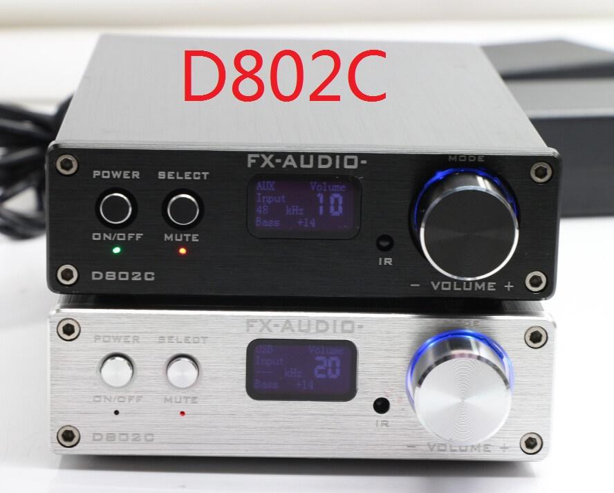 Prix pour FX-Audio D802C Bluetooth@3.0 Pur Plein Numérique Audio Amplificateur Entrée USB/AUX/Optique/Coaxial/BT 24Bit/192 KHz 80 W * 2 OLED Affichage