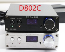 FX-Audio D802C Bluetooth@3.0 Pure Full Digital Audio Amplifier Input USB/AUX/Optical/Coaxial/BT 24Bit/192KHz 80W*2 OLED Display(China (Mainland))