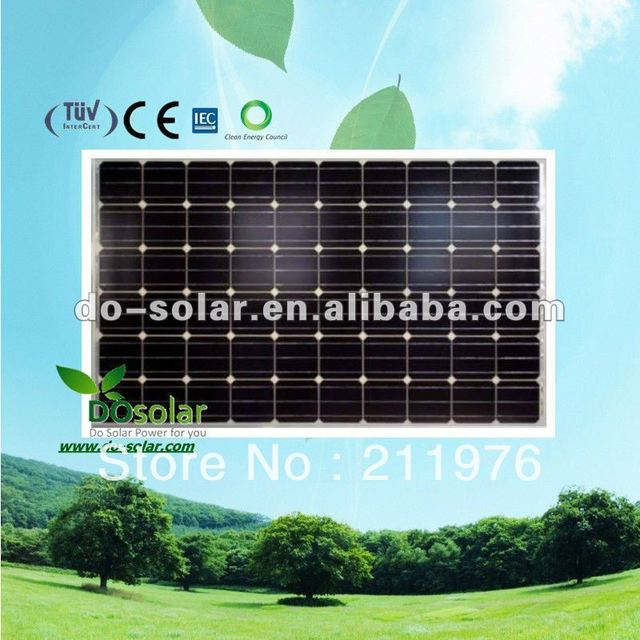 Free shipping-- China solar panels, MONO 250W for off grid 5KW solar power system for home use in stock