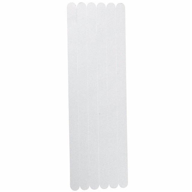 Promozione 6 pz 38x2x0.05 cm Da Bagno Antiscivolo Grip Adesivi Antiscivolo Doccia Strisce Pad Pavimenti In nastro di sicurezza Zerbino Trasparente