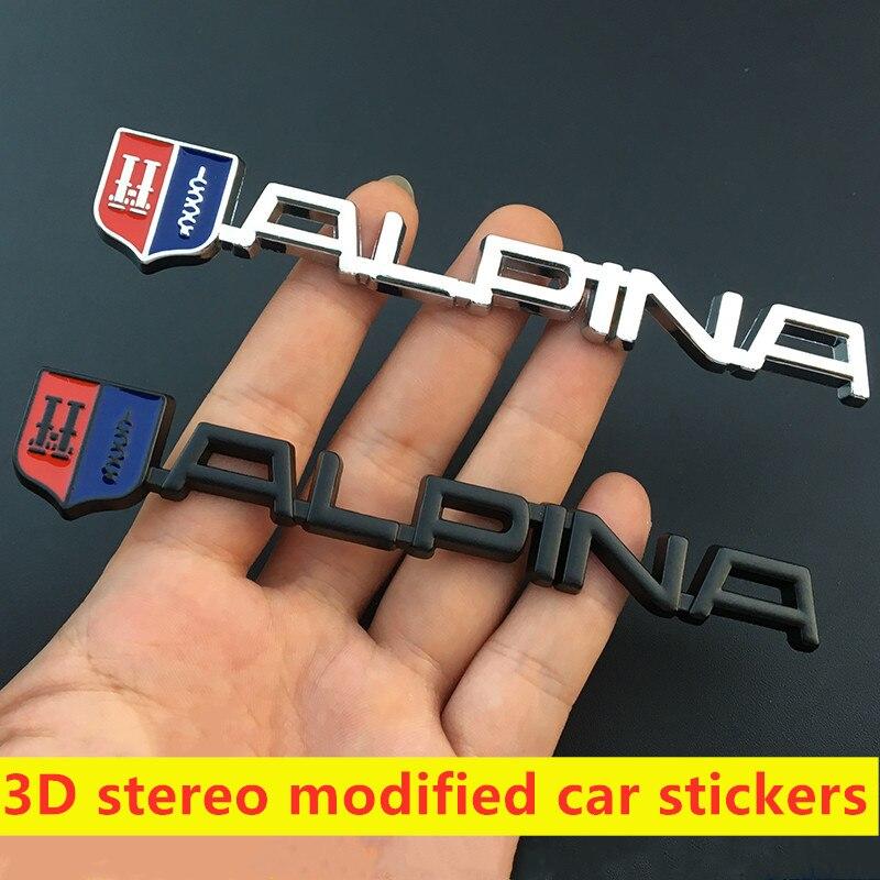 Alpina-Emblème badge Logo 3d Autocollant Sticker logo de métal
