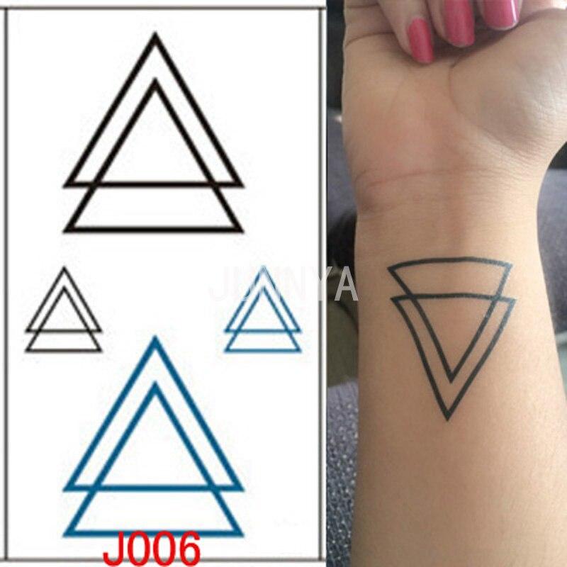 3d Driehoek Ontwerp Tattoo Flash Waterdichte Tatoeages