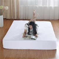 Quilted Fitted Mattress Pad Mattress Cover Stretches up to 17 Inches Deep Mattress Topper