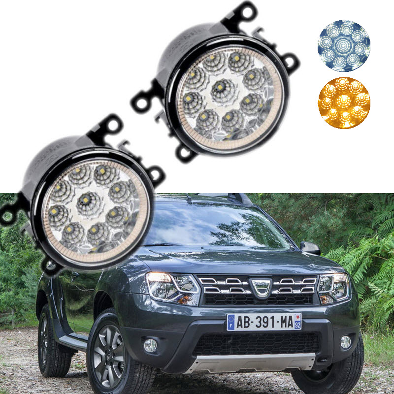 For Renault Dacia Duster 2011-2016 9-Pieces Leds Chips LED Fog Light Lamp H11 H8 12V 55W Halogen Fog Lights авто в москве dacia duster