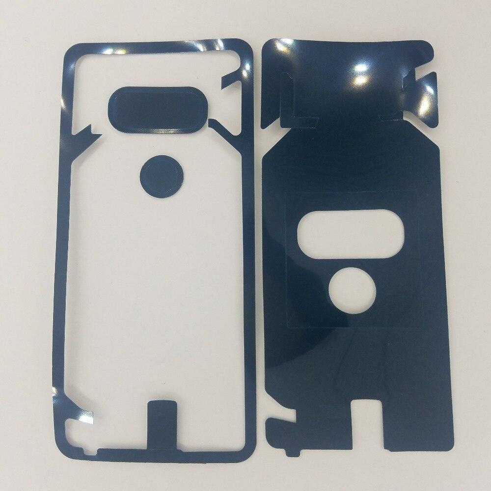 For LG G6 H870 H870DS H871 H872 H873 LS993 US997 Phone Housing Door Camera Pre-Cut Adhesive Back Glass Cover Panel Sticker Glue