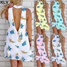 Women Boho Holiday Sleeveless Backless Beach Ladies Summer Mini Casual Sun Dress