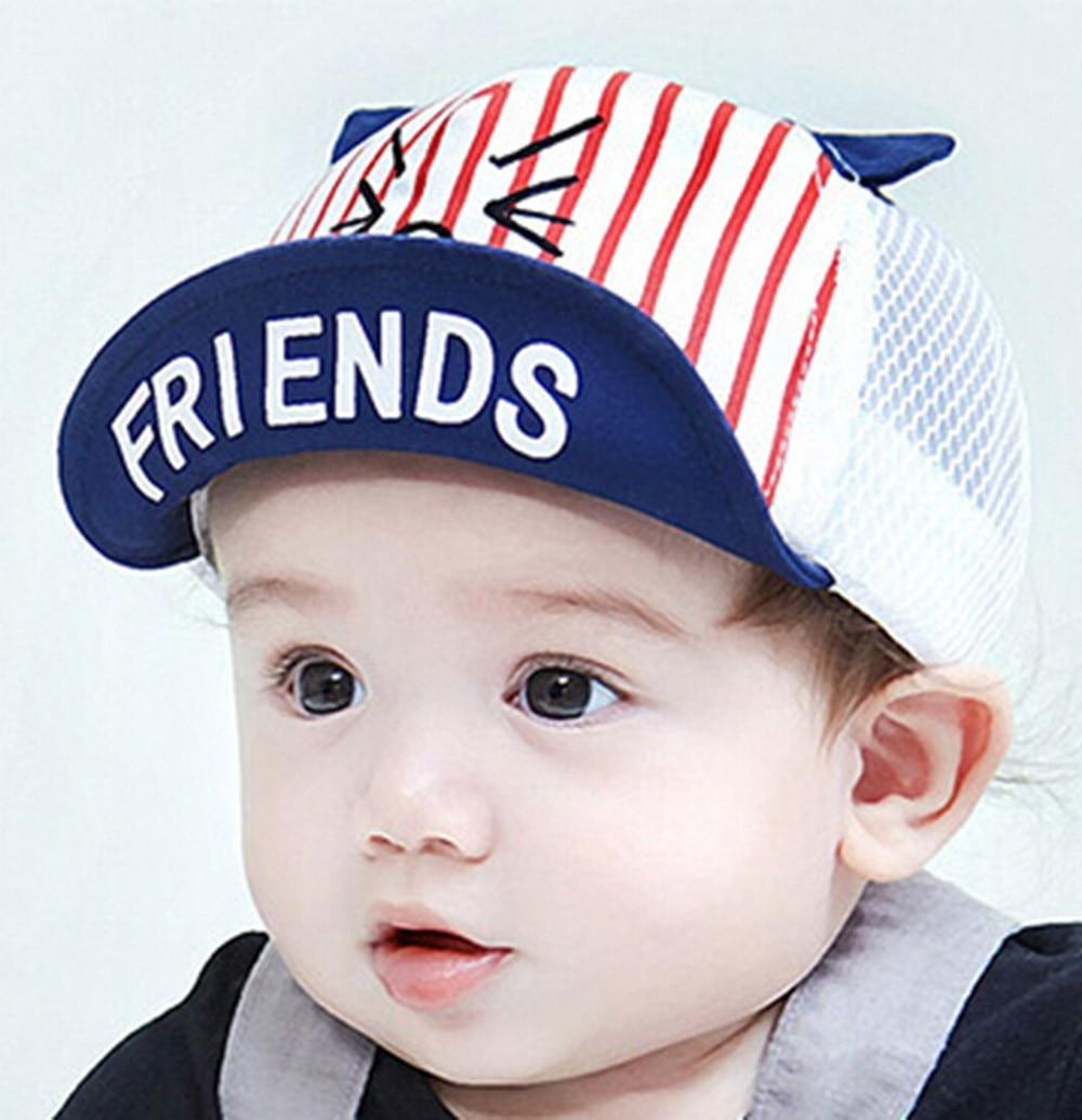 "Baby Child Boy Infant Kids Cotton /""Cat/"" Baseball Hat Beret Casquette Peaked Cap"