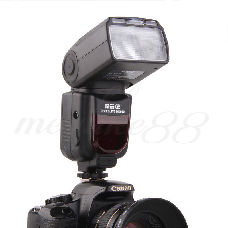 High Quality Meike MK-950 Flash Light  8 Bright Control Wireless Flashgun for  Nikon E-TTL DSLR Camera  LCD  Speedlite genuine meike mk950 flash speedlite speedlight w 2 0 lcd display for canon dslr 4xaa