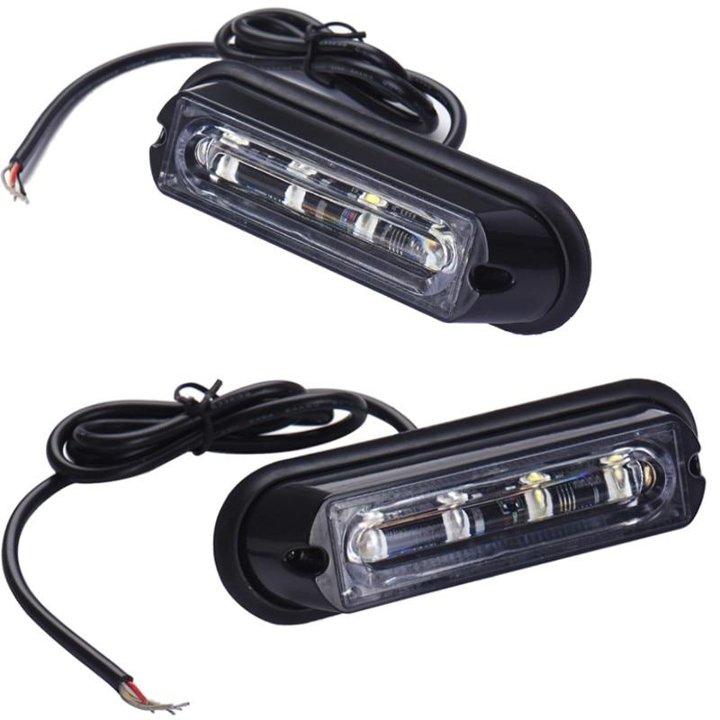 1pcs Amber 4 LED Car Emergency Beacon Warning Hazard Lamp Flash Strobe Light 12V