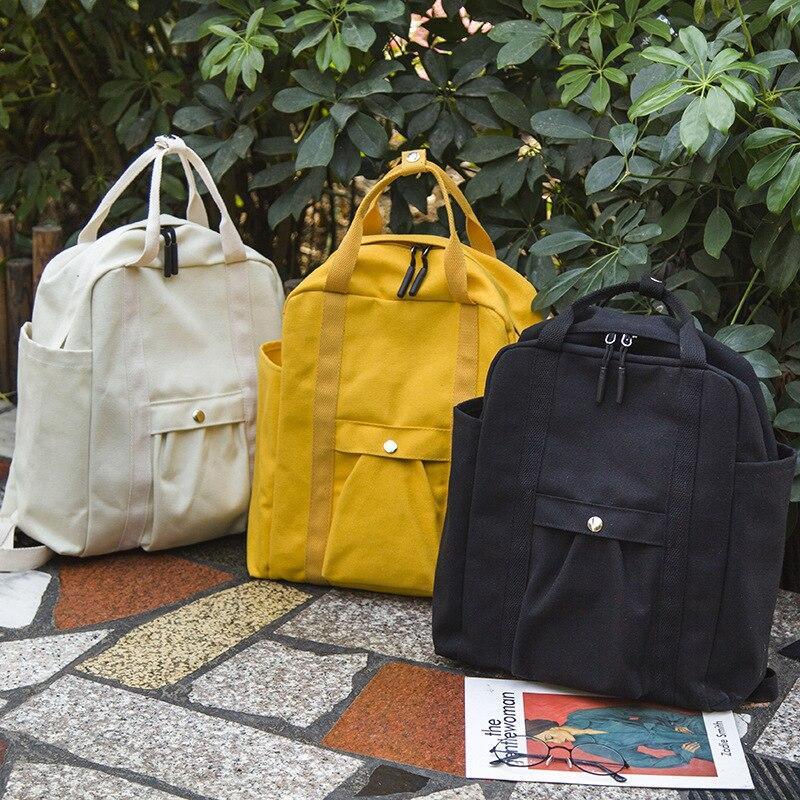Street Beat Bag Female Korean Harajuku Ulzzang Women Canvas Backpacks High School Students Shoulder Bag Female Casual Backpack
