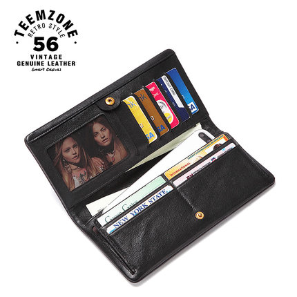 Luxury Men Long Wallet Credit Card Holder Genuine Leather Vintage  High QualityMale Clutch Fashion Bifold  Hip hop Purse j50 new men genuine wallet fashion casual pu credit id card holder purse wallet long business male clutch hot selling 2016