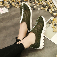 DEVOOM Woman Skate White Shoes Womens 2017 Summer Flat Shoes Breathable Mesh Casual Beautiful Ladies Flats