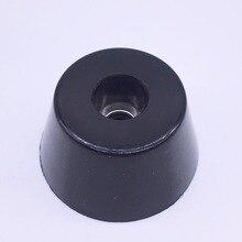 Wkooa резиновые ножки Бамперы втулки для мебели резиновые накладки конические 20x16x10,5 мм черный пакет 50