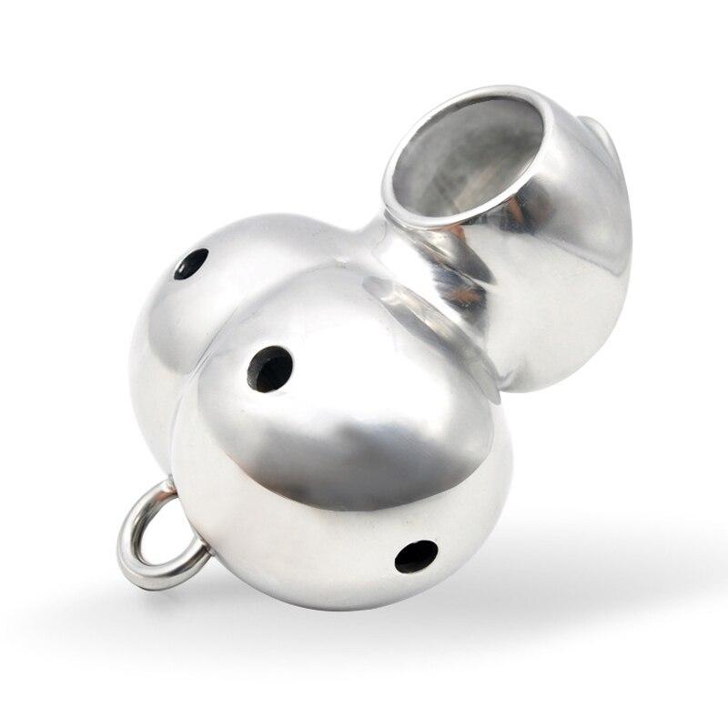 Sexe masculin pénis Scrotum Bondage anneaux en acier inoxydable balle civière testicules anneau Ballstrecher en métal Cockring Sex Toys pour hommes