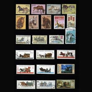 Image 4 - Caballo, 250 unids/lote todo el mundo sin utilizar con la marca postal sellos postales para recoger Timbres postaux