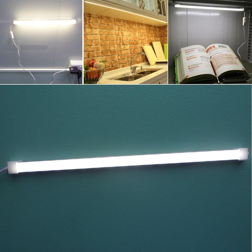 USB 5V Switch Led Light Tube Hard Strip Cool/Warm White Cabinet Table Lamp