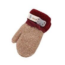 TELOTUNY childrens winter gloves kids mittens Cute Thicken Cartoon 3 8T u71220