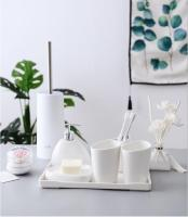 China Six piece Set ceramics Bathroom Accessories Set Soap Dispenser/Toothbrush Holder/Tumbler/Soap Dish Bathroom Products