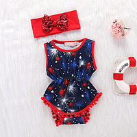 2pcs Summer Todler Girl Clothes Infant Bebies Cotton Bodysuit Newborn Kids Baby Leotard Clothing zwempak meisje with Headband