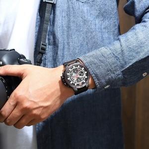 Image 5 - NAVIFORCE Uhren Neue Top Marke Luxus Military Quarzuhr Für Männer Chronograph Leder Wasserdichte Uhr Männlich relogio masculino