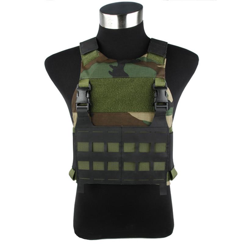 2017 FCSK Woodland Tactical Vest WL FERRO Tactical Vest 500D Woodland Includes EVA Plate