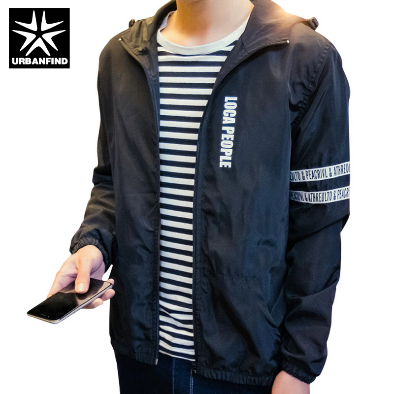 c0a0354d3fb Easy Match Men Hooded Jackets White / Black / Blue Color Plus Size M-4XL  Slim Fit Man Casual Coats Solid Style Male Outerwear