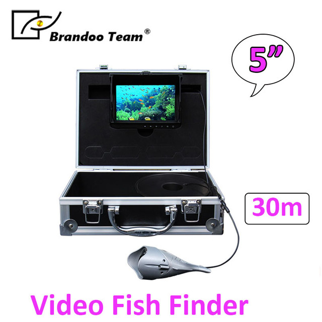"Video Fish Finder Underwater Ice Video Fishfinder Fishing Camera 12pcs Infrared LED 5"" inch monitor camera kit"