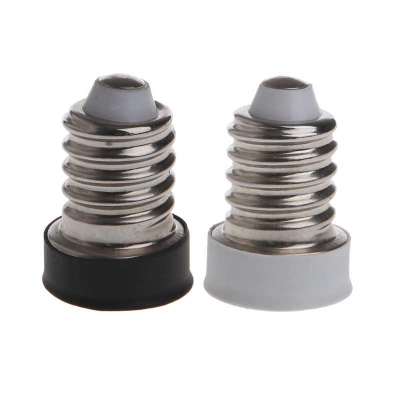 WHITE New E14 To E12 LED Bulb Mutual Conversion lamp Holders Converter Socket Adapter lampholders For LED Corn Bulb lights