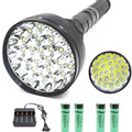 For Hunting flashlight XML-24 x T6 LED 40000 lumens power 5Modes Glare flashlight Torch lamp floodlight accent light camping