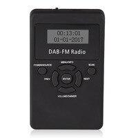 1 st Draagbare Pocket DAB/DAB +/FM Radio Professionele LCD Digitale Display DAB Ontvanger + Oortelefoon Kits Mayitr