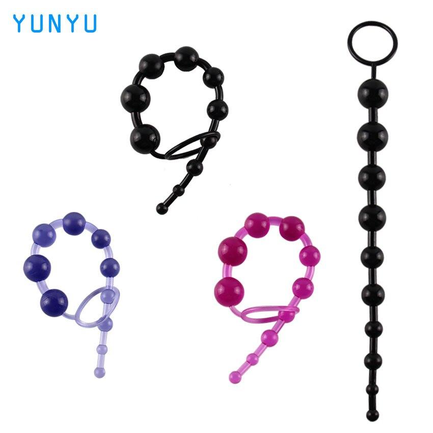 1 stücke Anal Spielzeug Farbe Jelly Anal Beads Sex Orgasmus Vagina Plug...