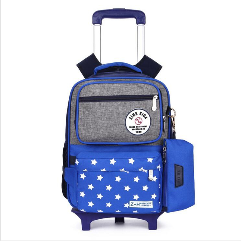 Trolley Backpack School Bags For Grils Six Wheel Students Removable Nylon Orthopedic Backpacks for teenagers Mochila men stylish breathable shock absorbing athletic shoes