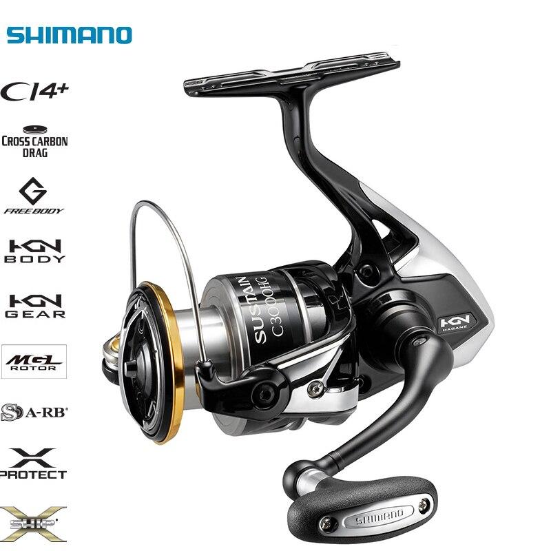 SUSTENTAR SHIMANO Originais FI 2500 2500HG C3000HG 3000XG 4000XG C5000XG 20-24 (LB) arraste Max X PROTEGER Spinning Carretel De Pesca