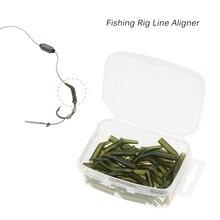 50Pcs Carp Fishing Rig Line Aligner Sea Hooks Sleeve Hair Sleeves Soft Anti Tangle Carp Aligner Fishing Tackle Pesca