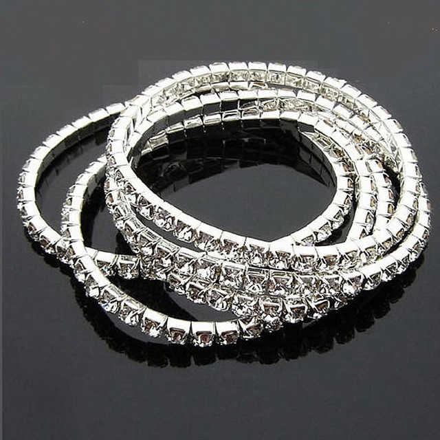 SL003 Nieuwe Mode Vintage Elasticiteit Crystal Flexibele Imitatie Armbanden voor Vrouwen Mannen Meisje Gift Sieraden Accessoires Groothandel