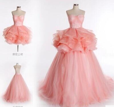 2 piece prom dresses vestido de festa longo ball gown 2017 waist ...