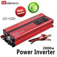 2000W Professional Car Inverter DC 12 V to AC 220 V Power Inverter Charger Transformer Vehicle Power Inverter Power Switch