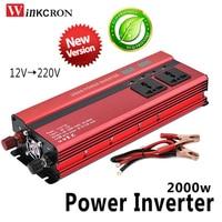 Professional 2000W Car LED Inverter DC 12 V to AC 220 V Power Inverter Charger Transformer Vehicle Power Inverter Power Switch