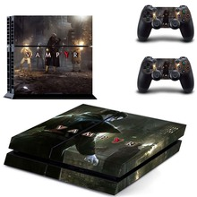 Vampyr Decal PS4 Skin Vinyl Design Stickers Cover Kit for Sony Playstation 4 Console and Two Controller