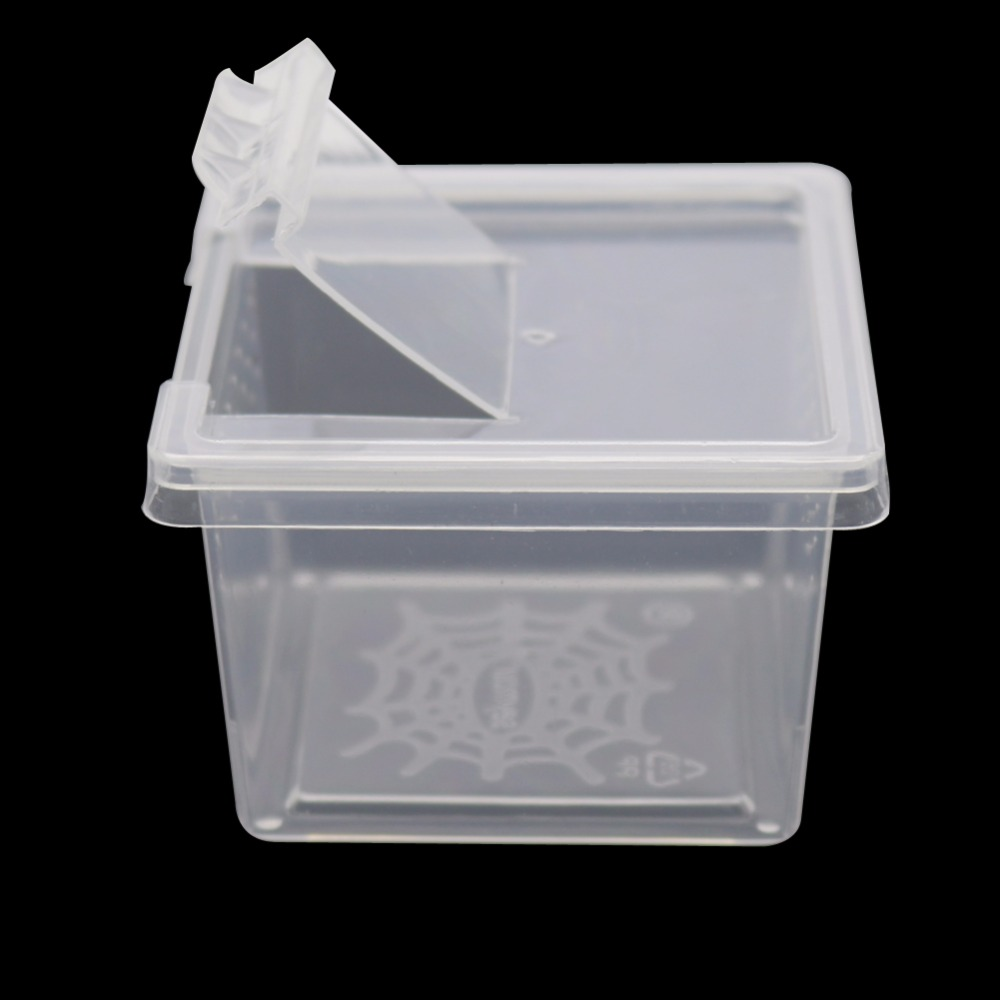1 Pcs Plastic Transparent Reptiles Living Box Reptile Terrarium Ideal Habitat For Scorpion Spider Ants Chameleon Lizard