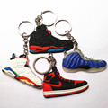 2016 New Arrival Fashion Shoes Key Chain White Black Blue Key ring Bag Chain Car Key Rings Flash Keychain Hot Selling!