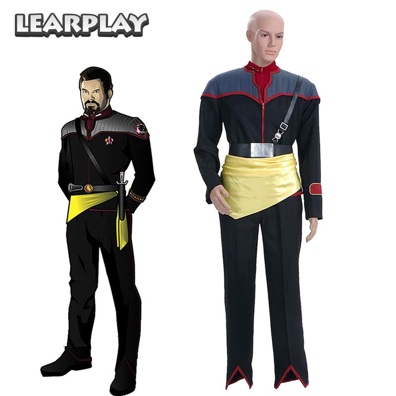 Star Trek Mirror Cosplay Costumes Starfleet working Uniform for Men Adult Halloween Outwear ...
