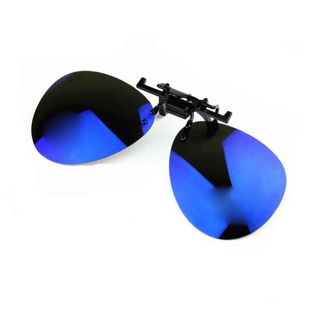785631a4c075 Noche visión Polarizd Clip en gafas de sol conductor día y noche Hd  conducción amarillo agujero alfiler