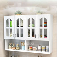 Kitchen Wall Cabinet Bathroom Kitchen Furniture Hanging Cabinet 4 Door Combination Add Bottom Cabinet Wall Hung Cabinet