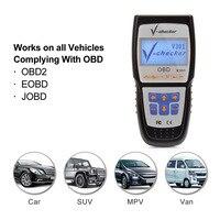 V-verificador v301 eobd obd2 scanner leitor de código de falha do motor do carro pode ferramenta de verificação de diagnóstico