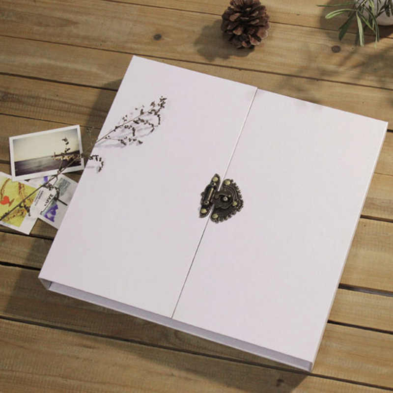 16 inch White Lock Photo Album/ Scrapbook Album // Wedding photo Album // Wedding Guest Book/White scrapbook album gift set