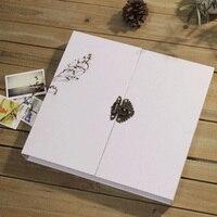 16 inch White Lock Photo Album/ Scrapbook Album // Wedding photo Album // Wedding Guest Book/White scrapbook album gift set