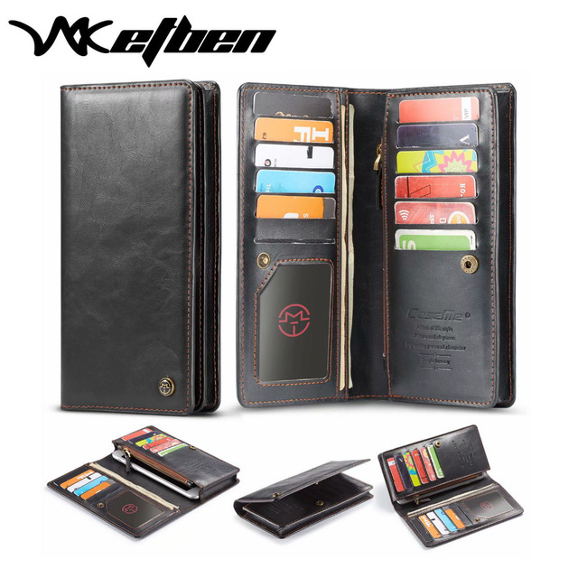 W7ETBEN Universal multi-function card slot wallet holster phone case for iPhone Samsung  Universal Phone 4.0 to 6.5 inch mobile