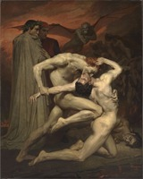 wholesale Famous oil painting Replica # London Museum Religious ART # william bouguereau dante and virgile painting