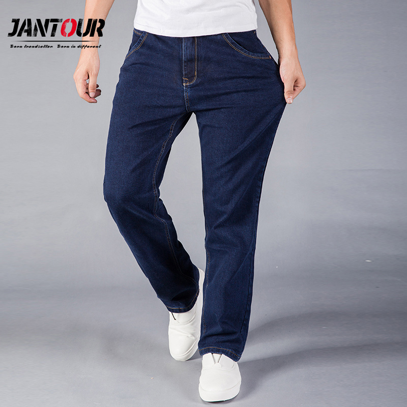 jantour Straight Jeans Man Large size Casual Fashion Long Pants Denim Trousers Classic Style High Quality Brand 40 42 44 size high quality jeans men fashion classic straight brand slim fit jeans denim trends trousers for male size 28 38 hombre pantalones